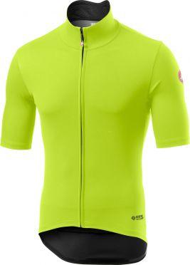 Castelli Perfetto RoS Light korte mouw fietsshirt fluo geel heren