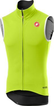 Castelli Perfetto RoS Vest mouwloos fietsshirt fluo geel heren