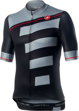 Castelli Trofeo korte mouw fietsshirt zwart/grijs heren