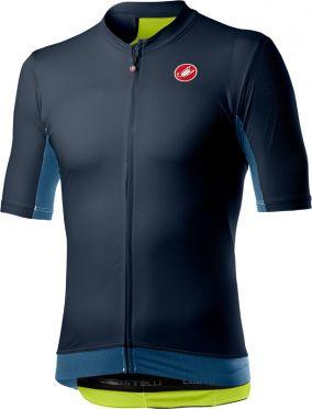 Castelli Vantaggio korte mouw fietsshirt donkerblauw heren