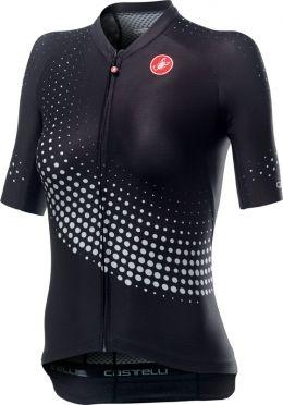 Castelli Aero pro W korte mouw fietsshirt zwart dames