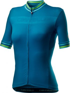 Castelli Promessa 3 korte mouw fietsshirt blauw dames