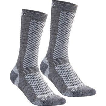 Craft warm mid sokken grijs 2-pack