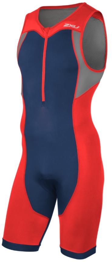 2XU Active Trisuit rood/blauw heren