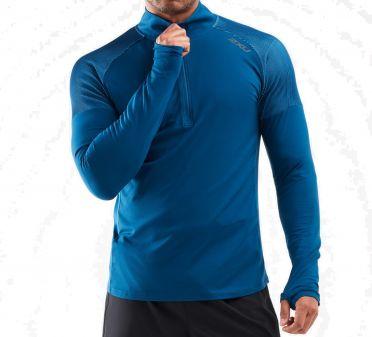 2XU GHST 1/2 Zip hardloopshirt lange mouw blauw heren