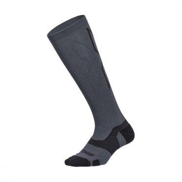 2XU Vectr merino LC Full Lenght compressie hoge sokken grijs
