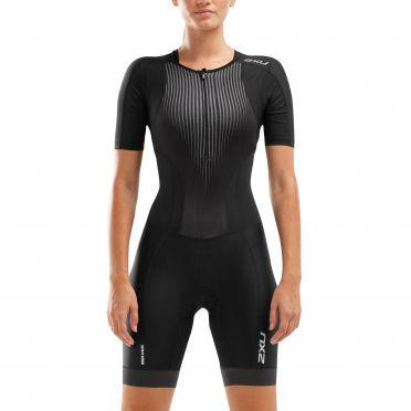 2XU Perform korte mouw trisuit zwart dames