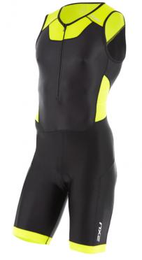 2XU Trisuit X-vent front zip zwart/geel heren