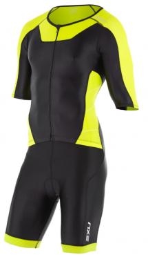 2XU X-vent Sleeved Full Front Zip Trisuit zwart/geel heren