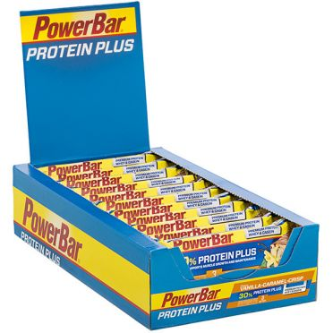 Powerbar Protein plus 30% bar caramel vanille 15 x 55 gram