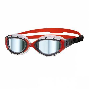 Zoggs Predator flex titanium zwembril rood/zwart