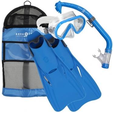 Aqua Lung Sport Santa Cruz Kids Snorkelset maat S/M blauw
