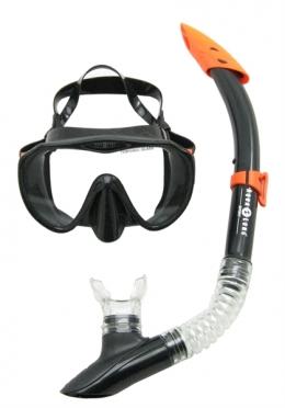 Aqua Lung Sport Malibu + Vera Cruz Snorkelset heren zwart