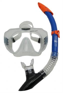 Aqua Lung Sport Malibu + Vera Cruz Snorkelset heren transparant