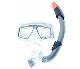 Aqua Lung Sport Cozumel + Seabreeze Snorkelset grijs