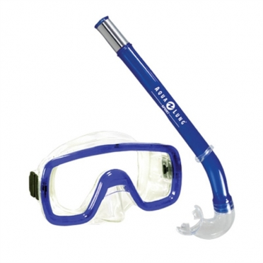 Aqua Lung Sport Peeka + Tonga Kids Snorkelset blauw