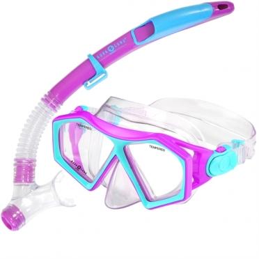 Aqua Lung Sport Molokai + Spout Kids Snorkelset paars