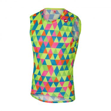 Castelli Pro mesh mouwloos ondershirt multikleur fluo heren