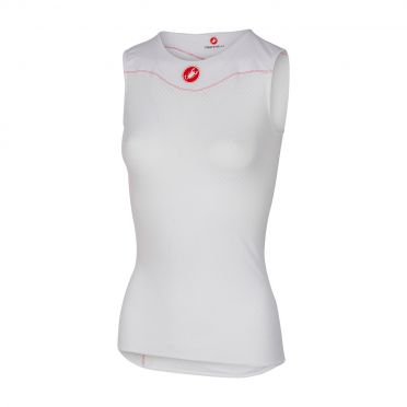Castelli Pro issue W ondershirt mouwloos wit dames