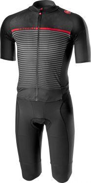 Castelli Classics thermosuit zwart/donker grijs heren