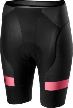 Castelli Free aero 4 W short team fietsbroek zwart/roze dames