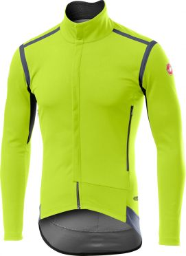 Castelli Perfetto RoS jacket fluo geel heren