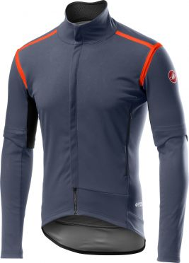Castelli Perfetto RoS Convertible jacket dark steel blauw heren