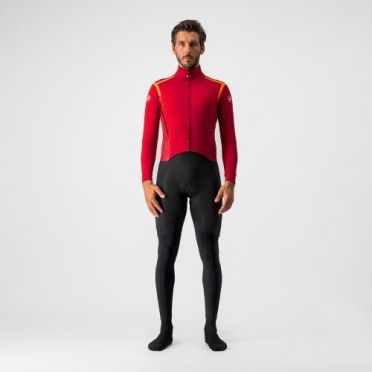 Castelli Sanremo RoS thermosuit rood/zwart heren