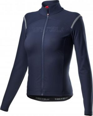 Castelli tutto nano RoS fietsshirt lange mouw blauw dames