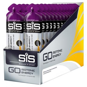 SIS GO Isotonic energiegel zwarte bes 30 stuks
