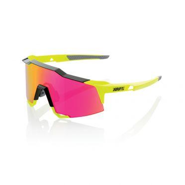 100% Speedcraft fietsbril geel met mirror lens