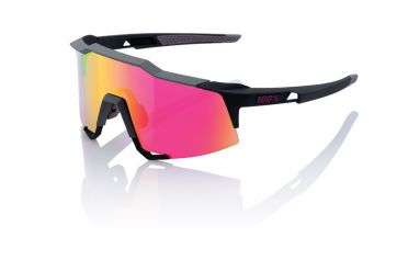 100% Speedcraft fietsbril soft tact graphit met mirror lens