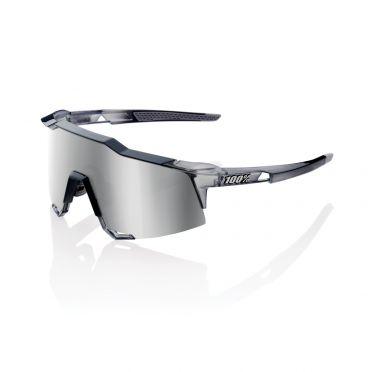 100% Speedcraft fietsbril polished crystal grijs met hiper lens grijs