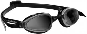 Aqua Sphere K180 Zwembril donkere lens zilver/zwart