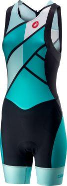 Castelli Free W tri ITU suit rits achterzijde mouwloos groen dames