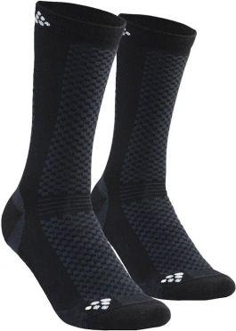 Craft warm mid sokken zwart 2-pack