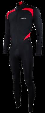 Craft Thermo Schaatspak CB zwart/rood unisex