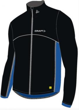 Craft Thermo Schaatsjack windstopper flatlock zwart/blauw unisex