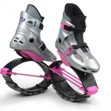 Kangoo Jumps Powershoe Special Edition zilver roze