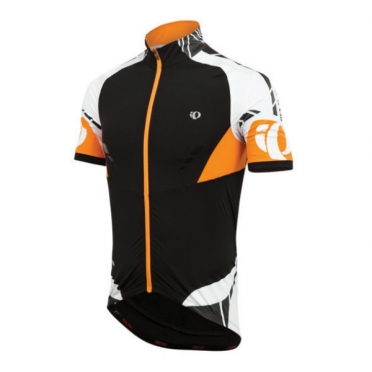 Pear Izumi PRO Leader fietsshirt korte mouw black safety orange