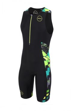 Zone3 Activate plus mouwloos trisuit Electric sprint heren