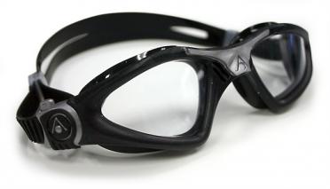 Aqua Sphere Kayenne Zwembril transparante lens zwart/zilver
