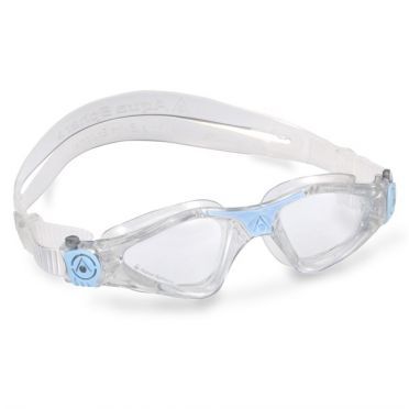 Aqua Sphere Kayenne Small transparante lens zwembril wit/blauw