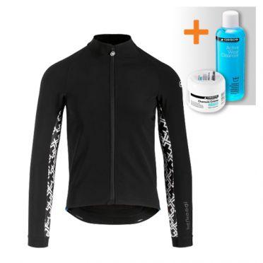 Assos Mille GT ultraz winter lange mouw jacket zwart heren