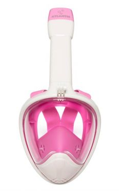 Atlantis 2.0 Full face snorkelmasker wit/roze
