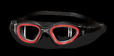 BTTLNS Ghiskar transparante lens zwembril zwart/rood