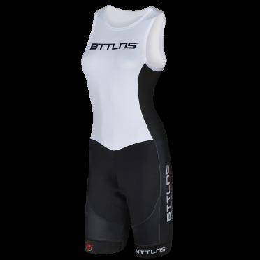 BTTLNS Goddess ITU trisuit mouwloos wit Nemesis 1.0