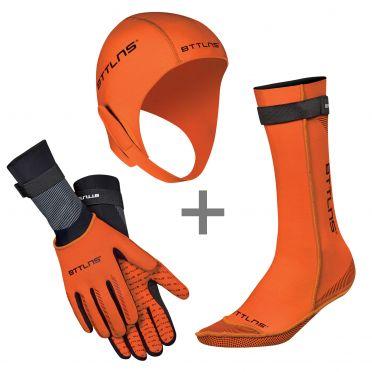BTTLNS Neopreen accessoires voordeelset oranje