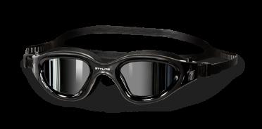 BTTLNS Valyron 1.0 spiegellens zwembril zwart/zilver