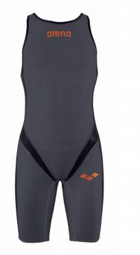 Arena Carbon pro rear zip mouwloos trisuit donkergrijs heren